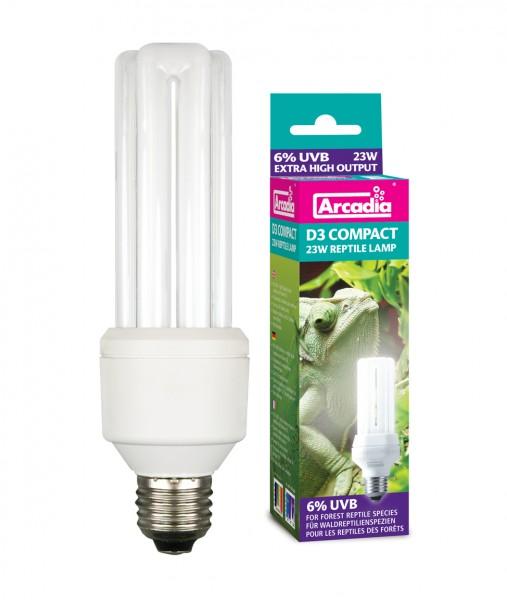 Arcadia D3 Reptilien-Kompaktlampe (23 W) 7 % UVB/30 % UVA