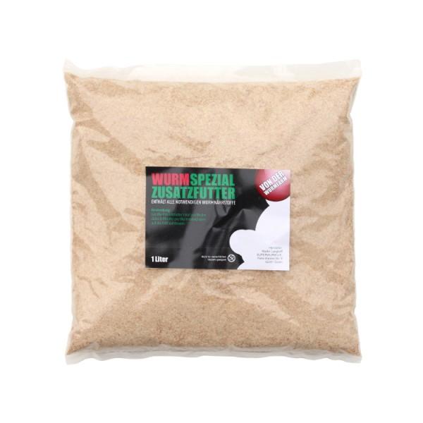 Wurmspezialzusatzfutter, 1 Liter Beutel